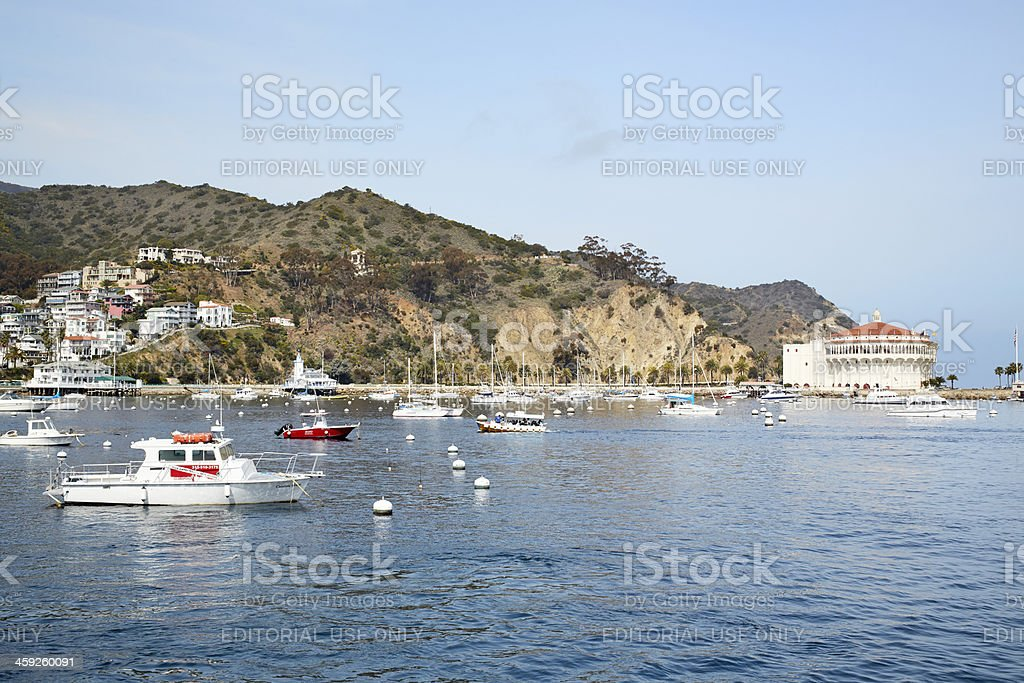Avalon Harbor and Casino, Santa Catalina Island, California royalty-free stock photo