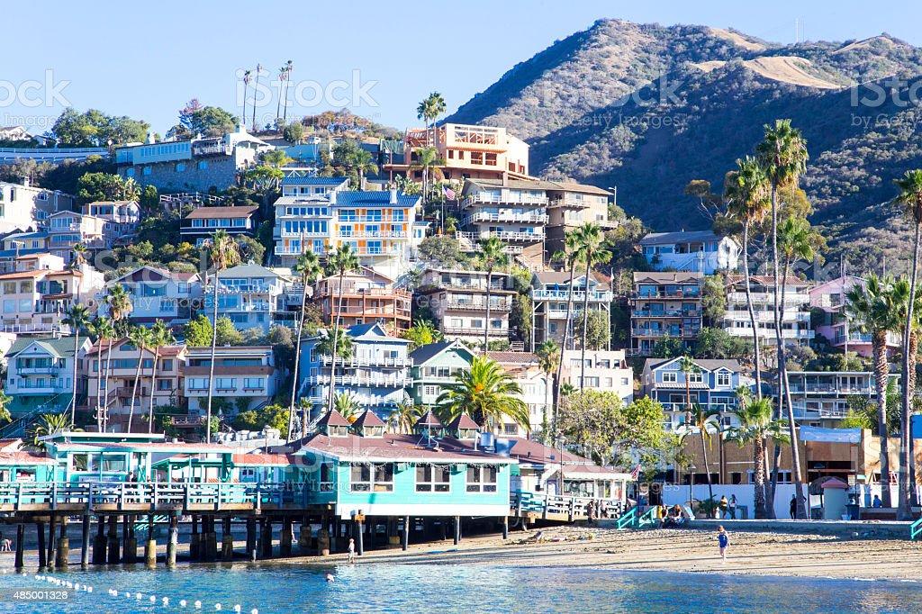 Avalon Harbor, Santa Catalina Island, Kalifornia zbiór zdjęć royalty-free