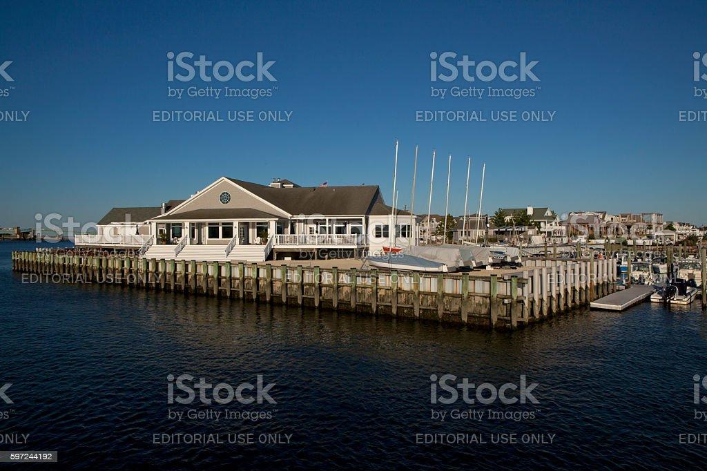 Avalon Yacht Club stock photo