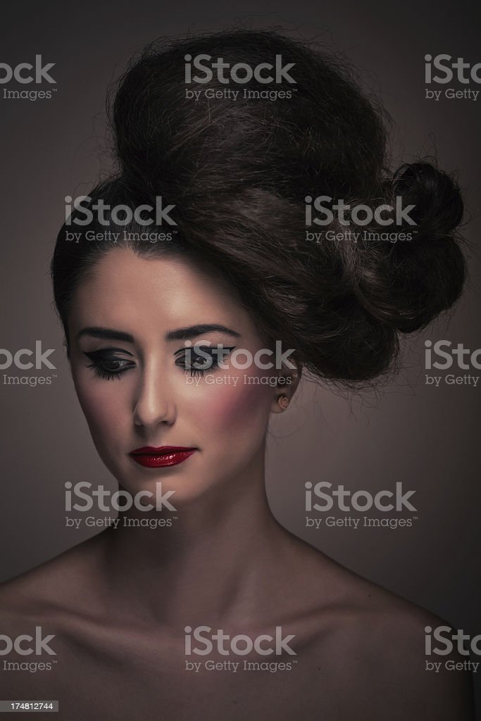Avant garde hairstyle portrait royalty-free stock photo