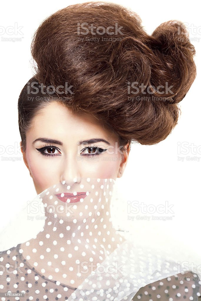 Avant garde hairstyle portrait royalty-free stock photo
