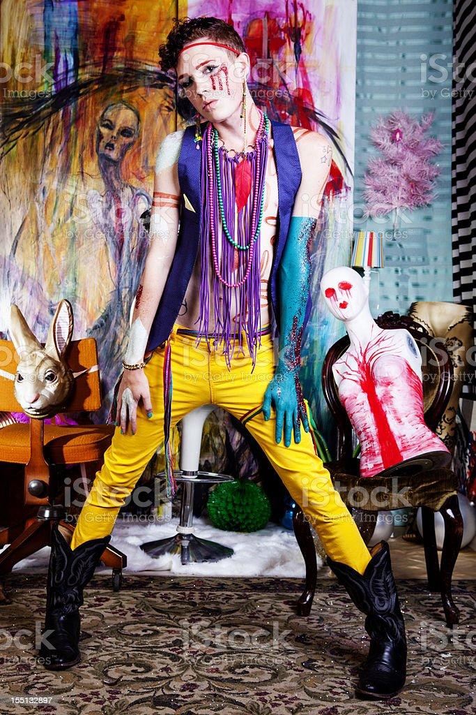 Avant-Garde Glam Punk Fashion royalty-free stock photo