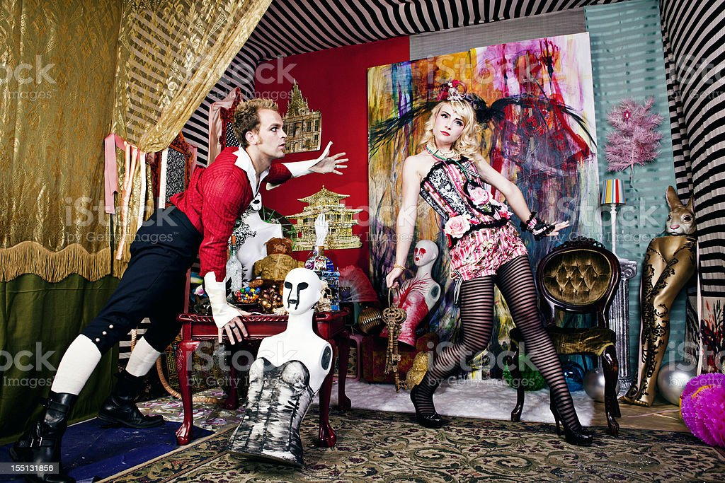 Avant-Garde Gothic Fashion royalty-free stock photo