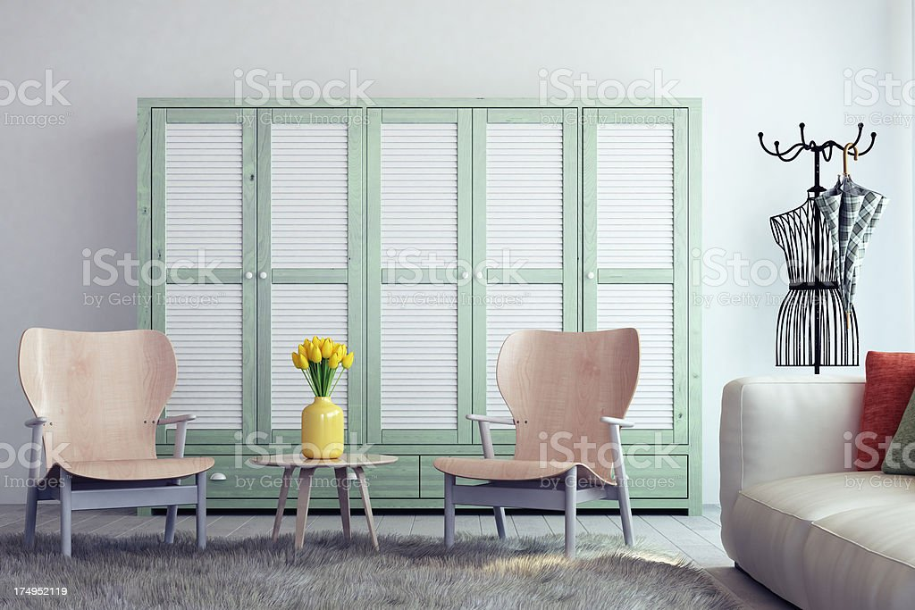 Avantgarde Interior design royalty-free stock photo