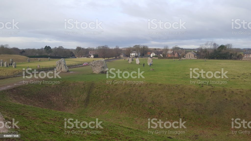 Avebury Stone Circle stock photo