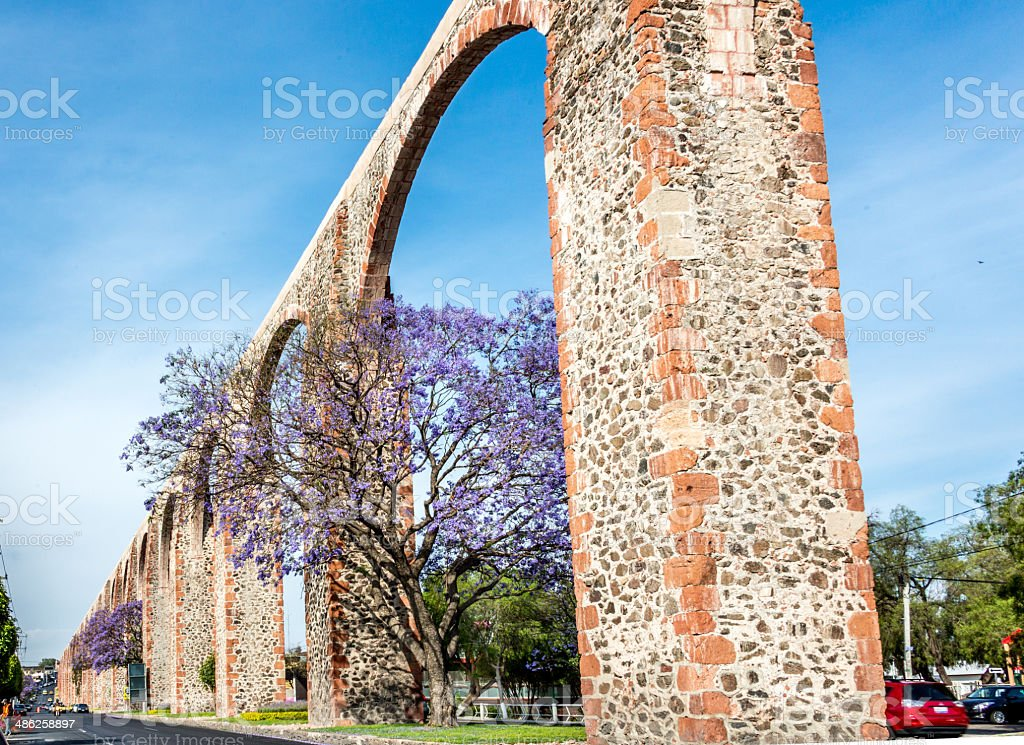Avenida los Arcos Queretaro Mexico stock photo