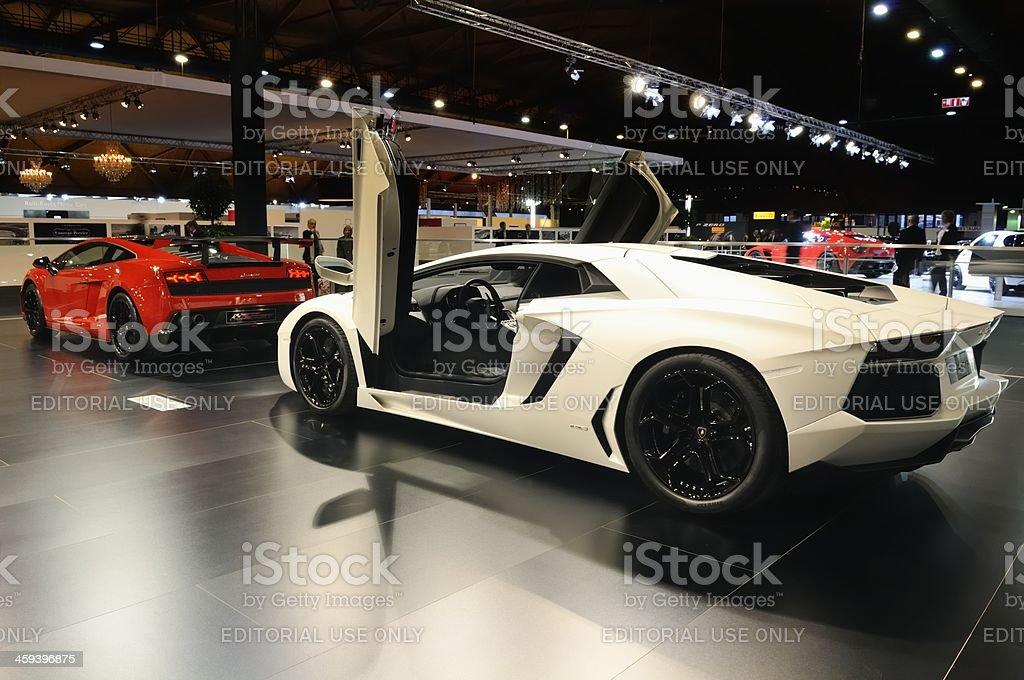 Aventador and Gallardo stock photo