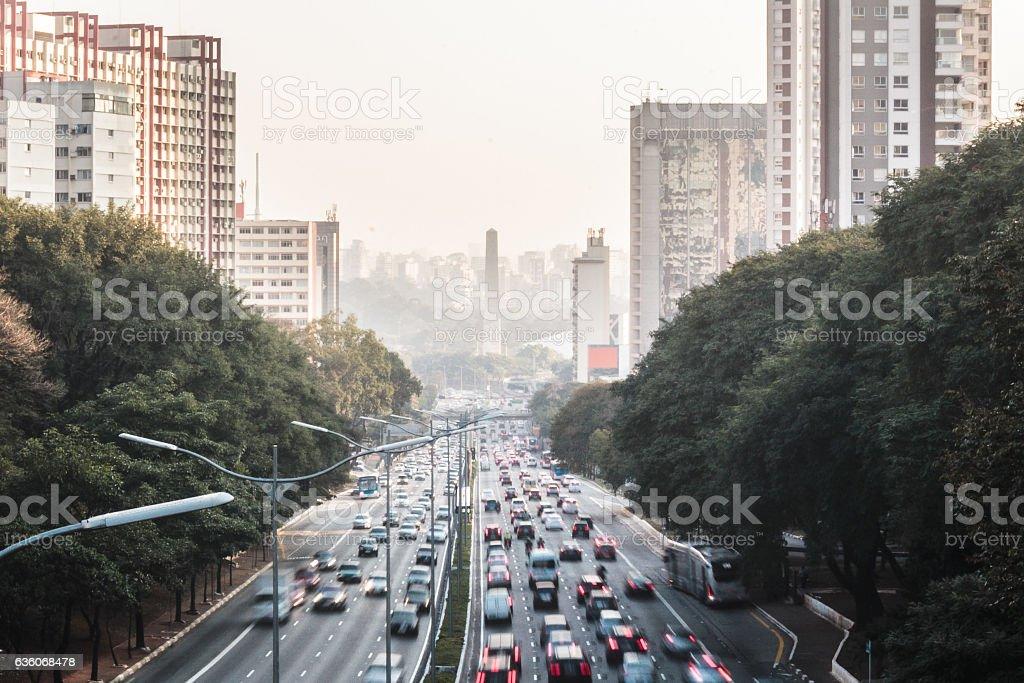 Avenue 23 de Maio in Sao Paulo, Brazil stock photo