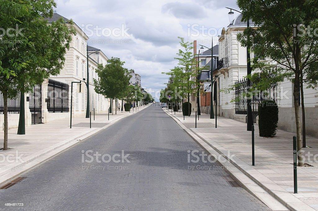 Avenue de Champagne stock photo