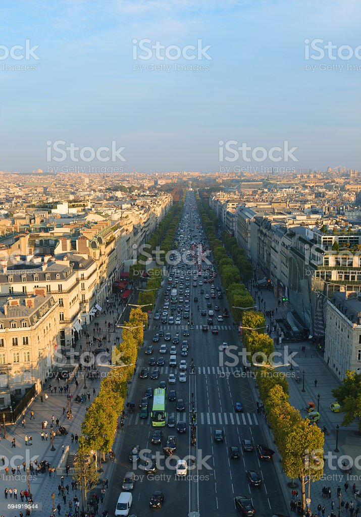 Avenue de Champs-Elysees stock photo