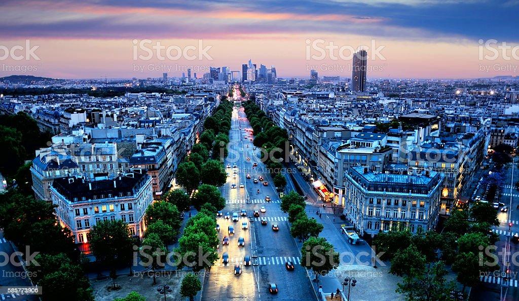 Avenue de la Grande Armee, Paris stock photo
