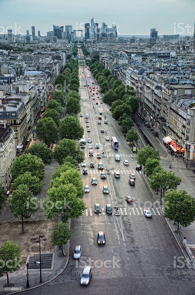 Avenue de la Grande Armee stock photo