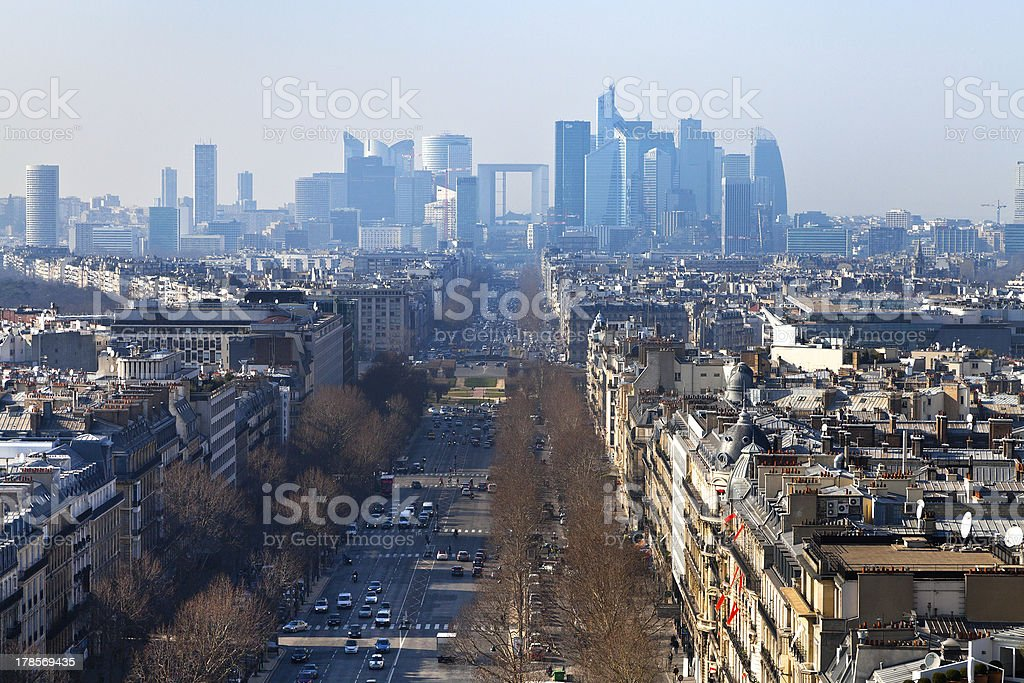 Avenue de la Grande in Paris stock photo