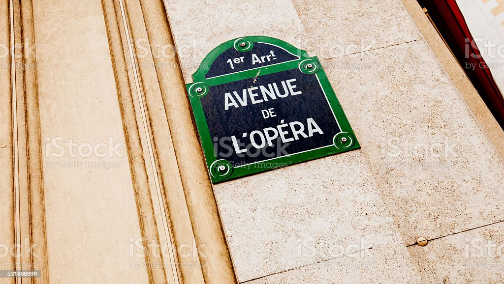 Avenue de L'Opera stock photo