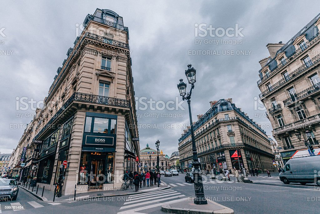 Avenue de l'Opéra, Paris stock photo