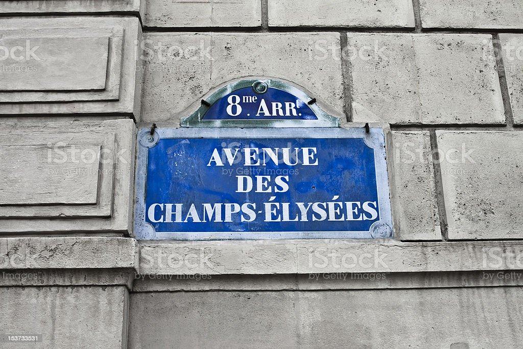 Avenue des Champs Elysées royalty-free stock photo