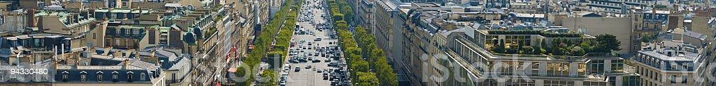 Avenue des Champs-Elysées, Paris royalty-free stock photo