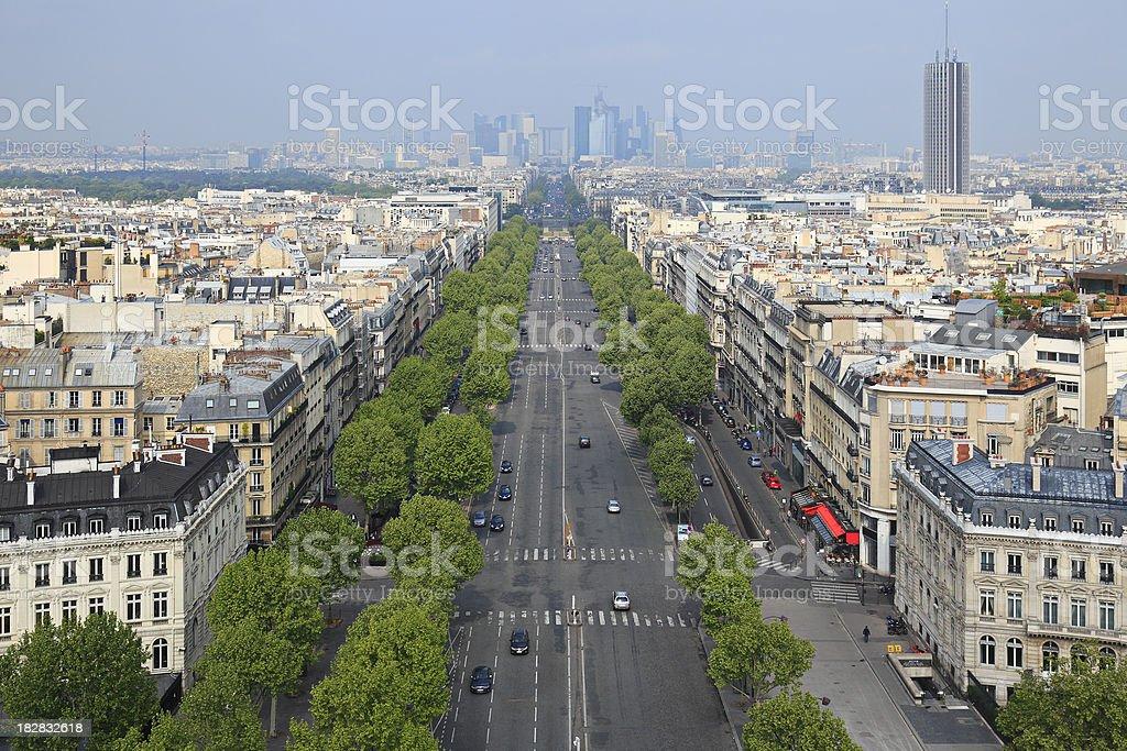 Avenue des Champs-Elysees stock photo