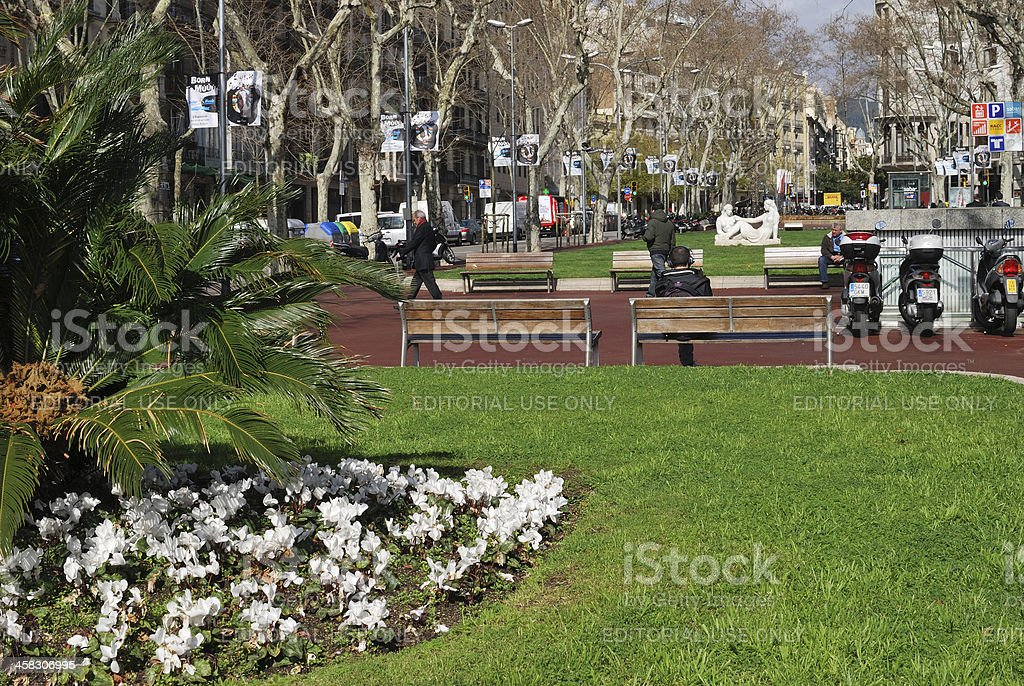 Avenue Diagonal. Barcelona. Spain royalty-free stock photo