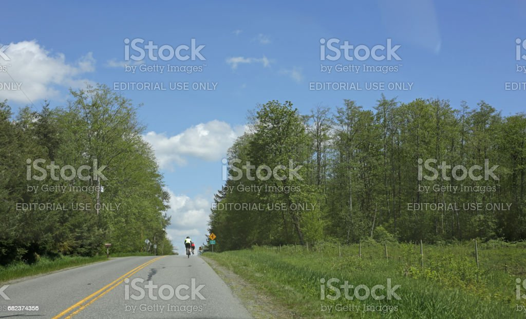 O Avenue International Border between British Columbia, Canada and Washington, United States stock photo