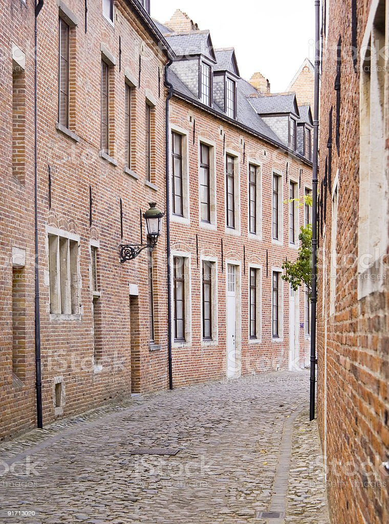 Avenue of Ancient Houses royalty-free stock photo