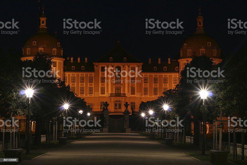 Avenue of Moritzburg stock photo