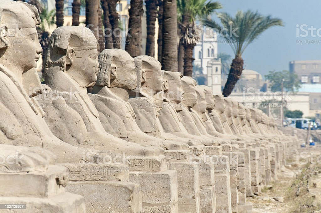 Avenue of Sphinxes royalty-free stock photo