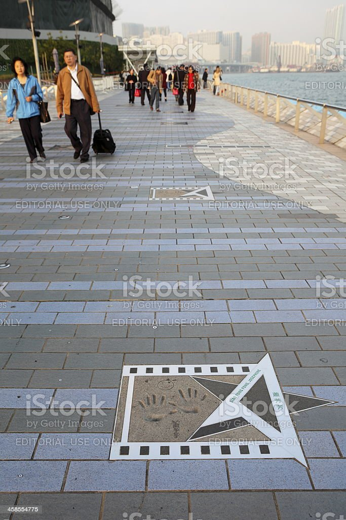 Avenue of Stars in Hong Kong stock photo