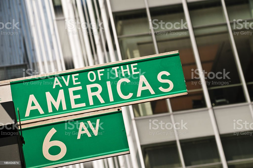 Avenue of the Americas stock photo