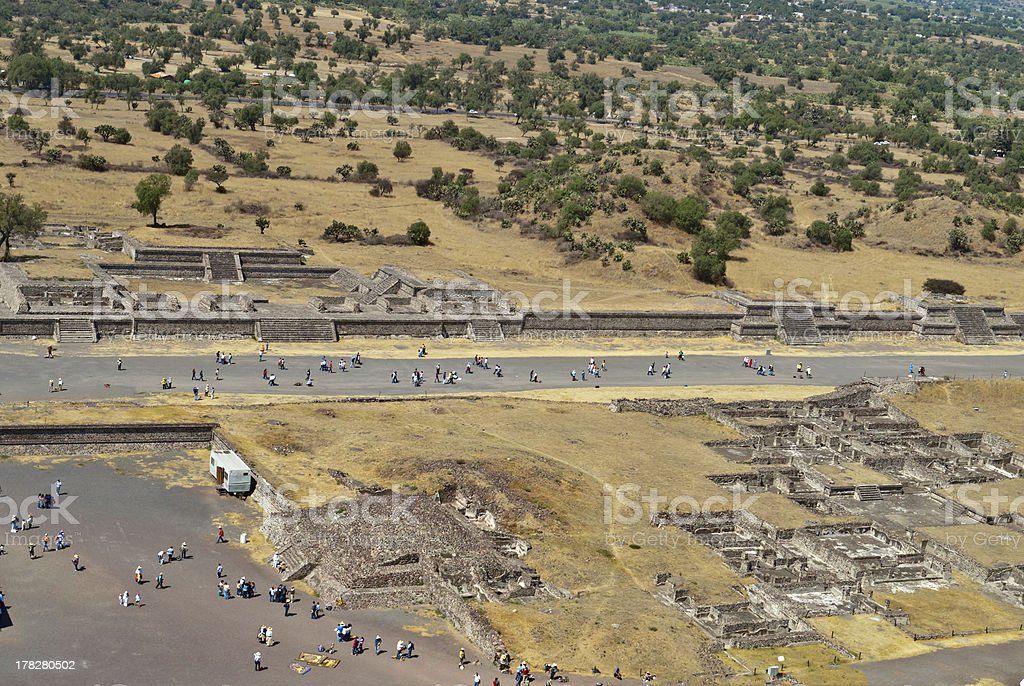Avenue of the Dead in Teotihuacan, Mexico stock photo