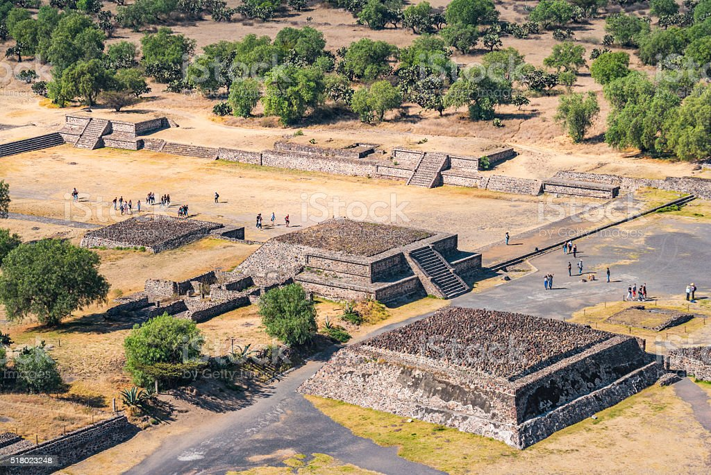 Avenue of the Dead in Teotihuacan Mexico stock photo