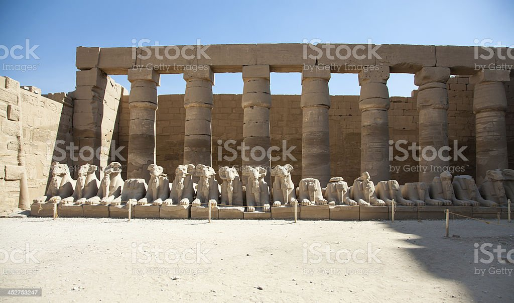 Avenue of the Rams at Karnak Temple royalty-free stock photo