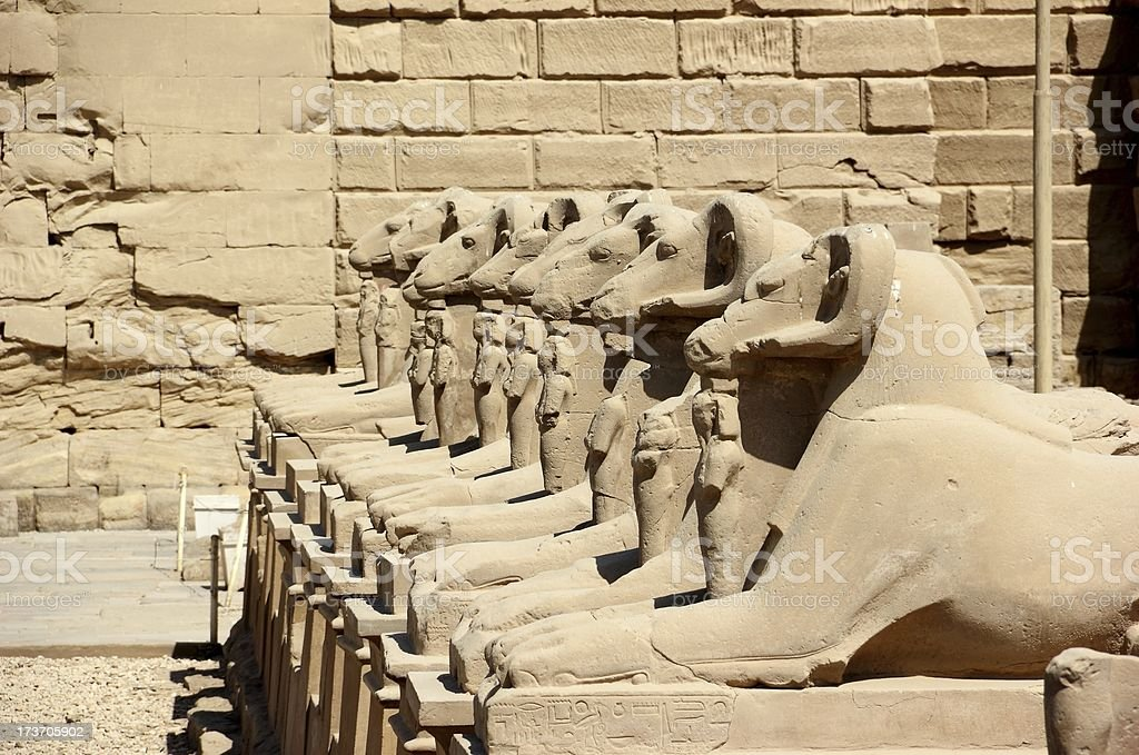 Avenue of the Sphinxes. Karnak Temple Complex, Luxor, Egypt. royalty-free stock photo