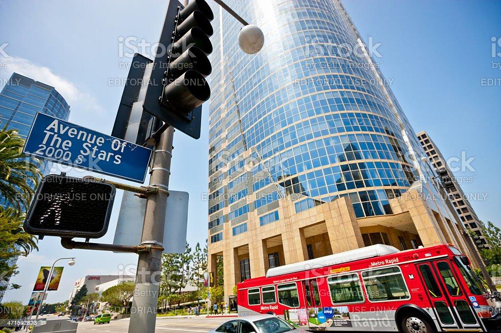 Avenue Of The Stars, Century City, Los Angeles royalty-free stock photo