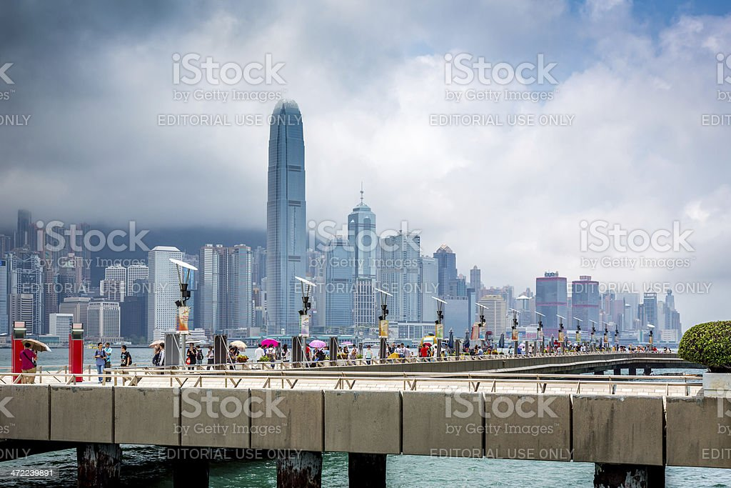 Avenue Of The Stars, Hong Kong stock photo