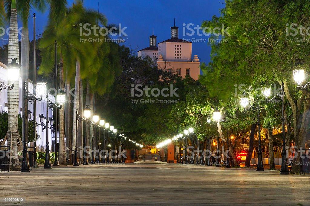 Avenue San Juan at night stock photo
