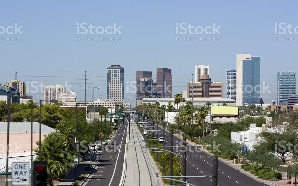 Avenue to Downtown royalty-free stock photo