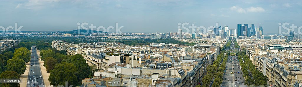 Avenues and skyscrapers, Paris royalty-free stock photo