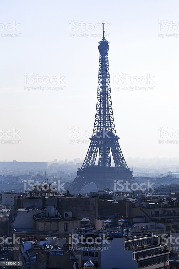 Avenues D Iena in Paris royalty-free stock photo