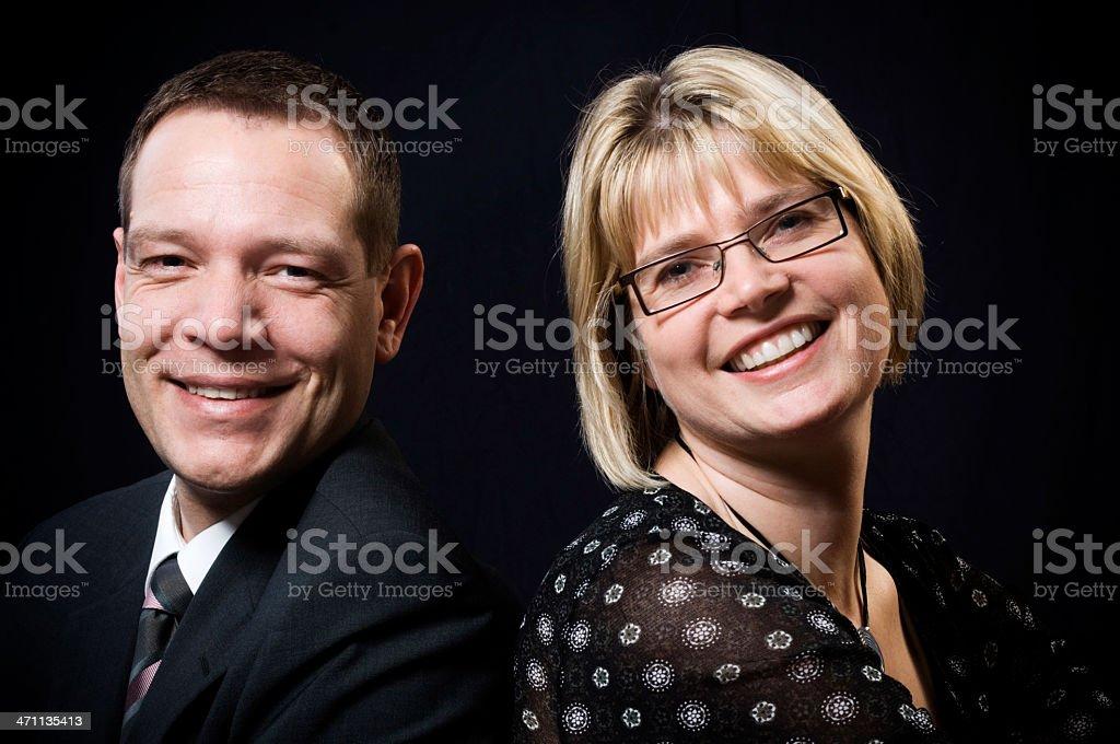Average couple royalty-free stock photo