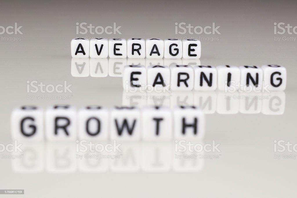 Average Earning Growth royalty-free stock photo