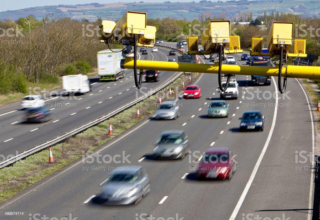 Average Speed Cameras on UK Motorways stock photo