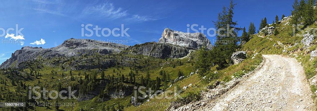 Averau and Nuvolau, Dolomites stock photo
