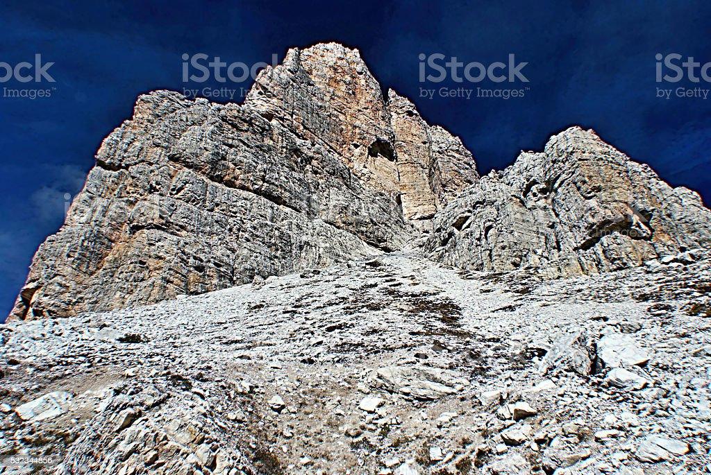 Averau mountain peak in Dolomites stock photo