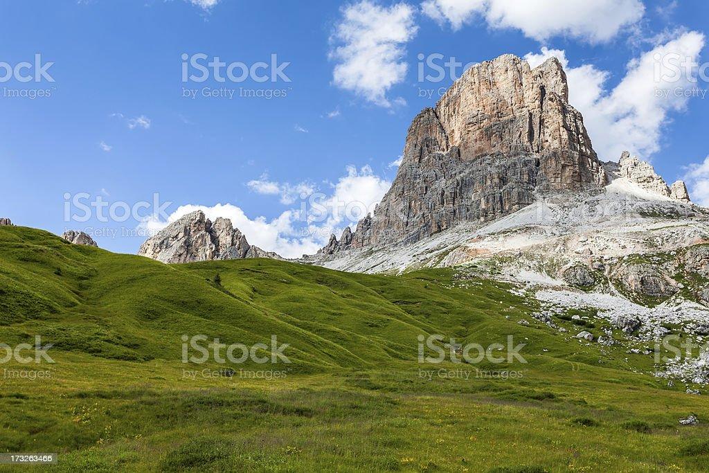 Averau Mountain stock photo