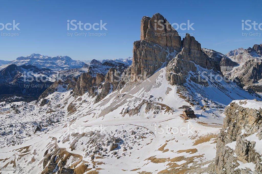 Averau Refuge (Dolomites - Italy) stock photo