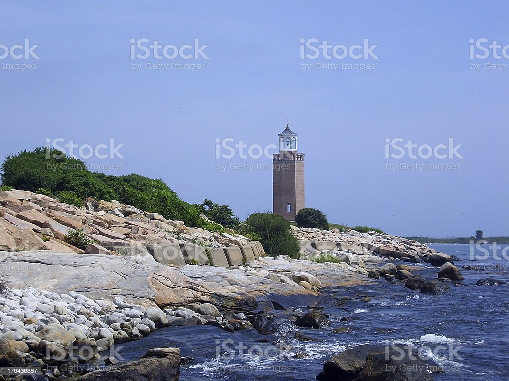 Avery Point Lighthouse stock photo