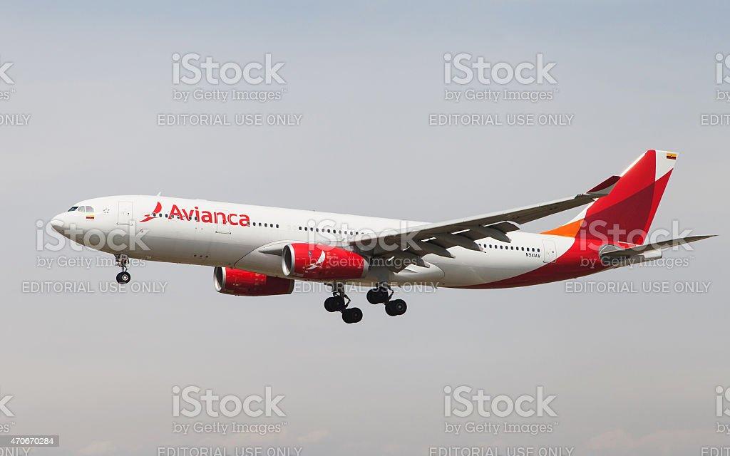Avianca Airbus A330 stock photo
