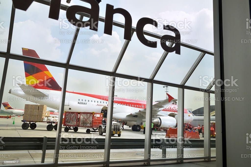 Avianca Airbus In Bogota royalty-free stock photo