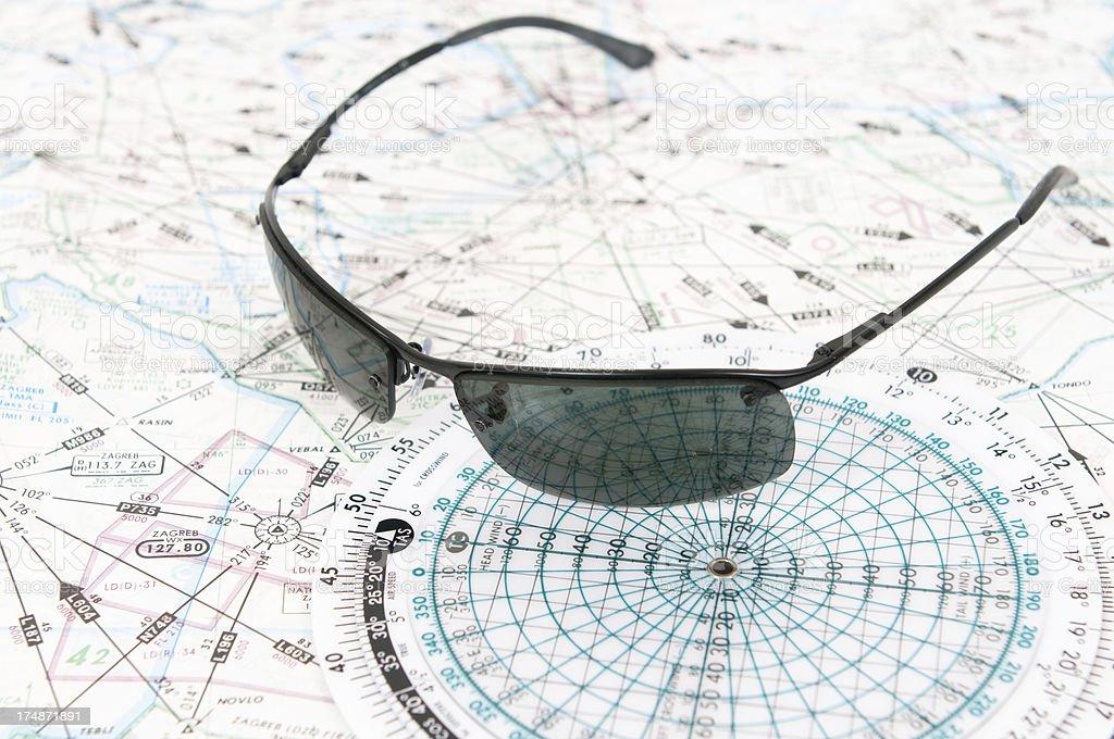 Aviation Chart royalty-free stock photo